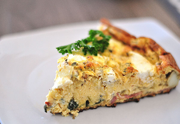 Guilt Free Spinach Goat Cheese Turkey Bacon Frittata - Life Made Sweet ...