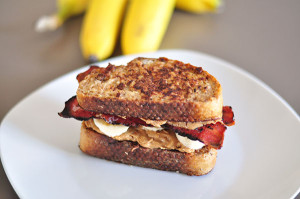 Peanut Butter Bacon & Banana French Toast Sandwich