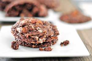 One Bowl Cocoa Almond Coconut Cookies