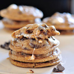 Gooey Stuffed Smores Cookie