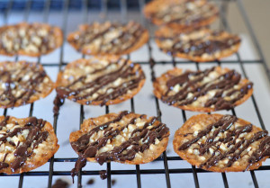 Chocolate Lace Florentine Cookies