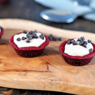 Red Velvet Cannoli Cream Cookie Cups